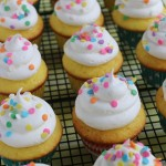 You will never know that these Lemon Cupcakes start with a box mix! There is a secret ingredient though! Oh and the marshmallow frosting? Just 2 ingredients! It's heavenly!