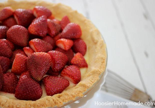 Meyer Lemon & Strawberry Pie