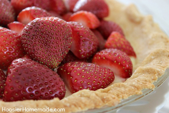 Meyer Lemon & Strawberry Pie :: Recipe on HoosierHomemade.com