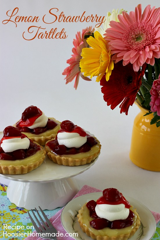 Lemon Strawberry Tartlets   Recipe on HoosierHomemade.com