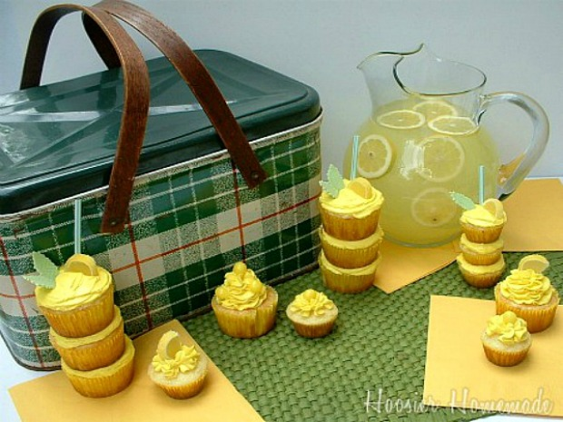 Lemonade Cupcakes | Recipe on HoosierHomemade.com