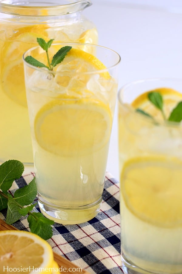 Lemonade in tall glass
