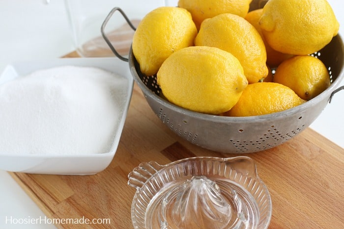 Ingredients to make Lemonade Recipe