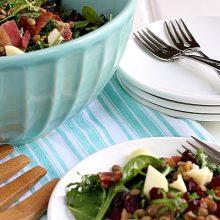 Arugula Salad with Green Lentils