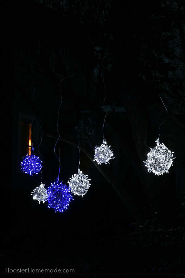 these outdoor christmas light decorating are sure to wow your neighbors these light balls are - Christmas Light Balls For Trees