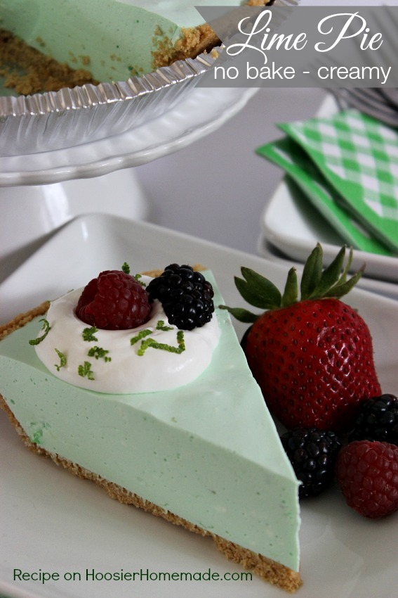 Lime Pie: No Bake, Creamy and Cool : Recipe on HoosierHomemade.com
