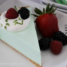 Summer Lime Pie :: Cool, Creamy & No Bake :: Recipe on HoosierHomemade.com