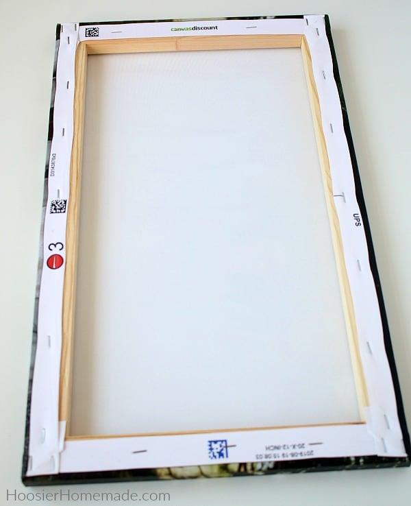 Canvas prints back of frame