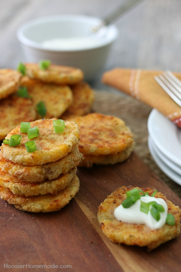 Loaded mashed potato patties hoosier homemade loaded mashed potato patties use up your leftover mashed potatoes with the easy recipe for ccuart Choice Image