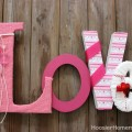 Valentine's Craft: How to make covered Love Letters :: Instructions on HoosierHomemade.com