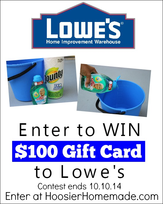 Lowe's Gift Card Giveaway | Enter to WIN on HoosierHomemade.com