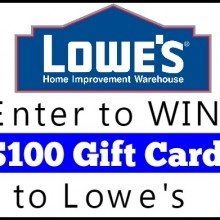 Lowe's-Giveaway