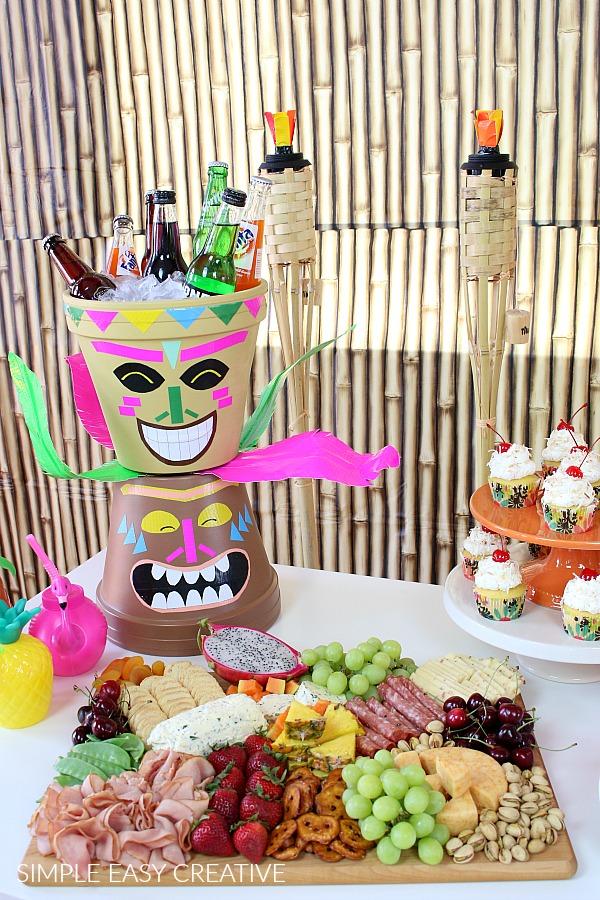 Food for Hawaiian Luau Party