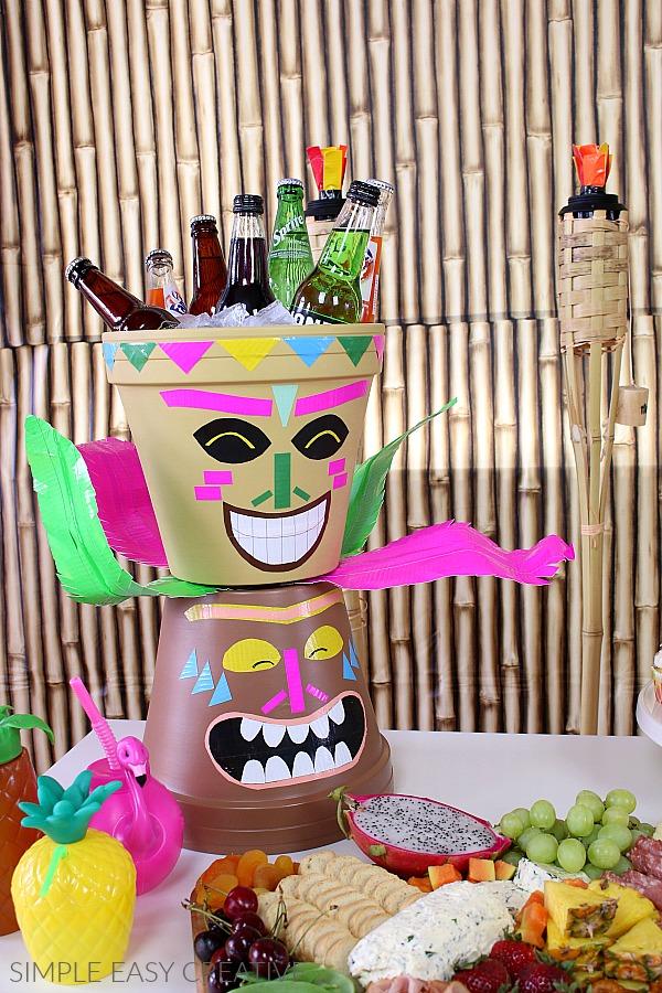 Tiki Head for Luau Party