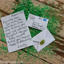 Lucky the Leprechaun Treasure Hunt :: Details on HoosierHomemade.com