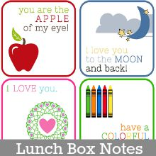 Lunch Box Notes Printables