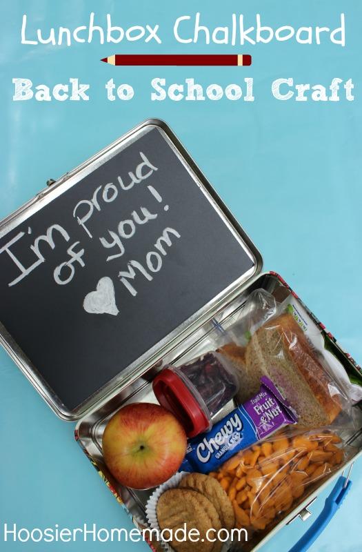 Back to School Craft: Lunchbox Chalkboard :: Instructions on HoosierHomemade.com
