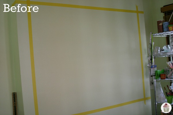 Diy magnetic dry erase wall hoosier homemade for Back painted glass marker boards