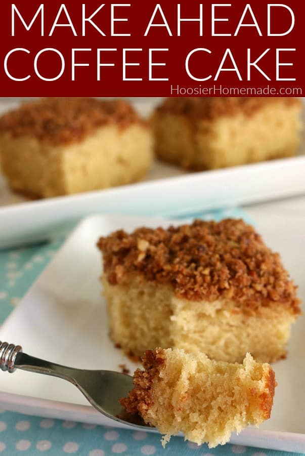 Make Ahead Coffee Cake on fork