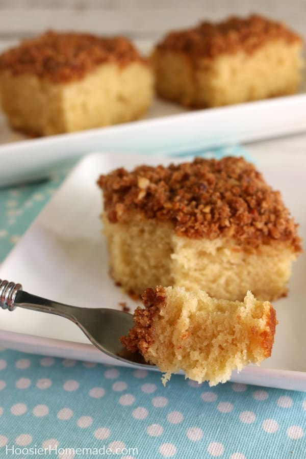 Coffee Cake on Fork