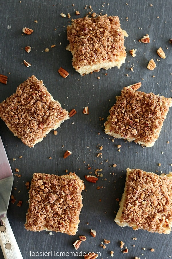 Make Ahead Coffee Cake on black board