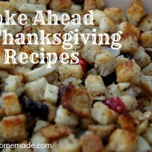 Make Ahead Thanksgiving Recipes on HoosierHomemade.com