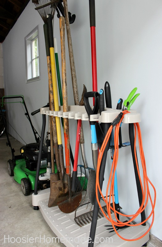 Man Cave: Garage Organizing on HoosierHomemade.com