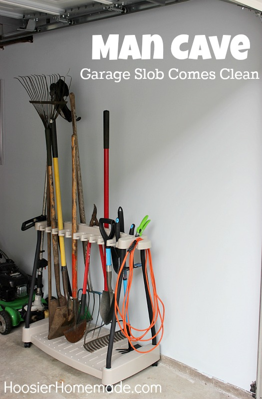 Man Cave: Garage Organization on HoosierHomemade.com
