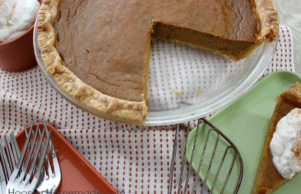 Maple Pumpkin Pie | Recipe on HoosierHomemade.com