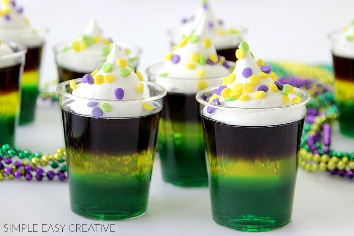 Mardi gras jello shots hoosier homemade jello shots to celebrate mardi gras forumfinder Gallery