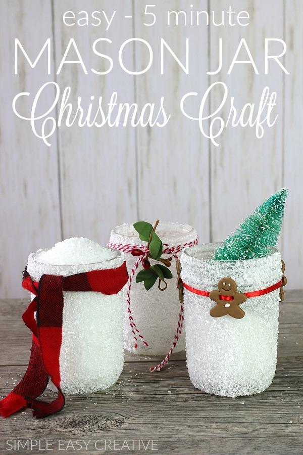 Mason Jar Christmas Craft