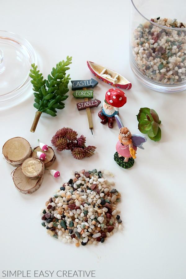 Supplies for Miniature Fairy Garden