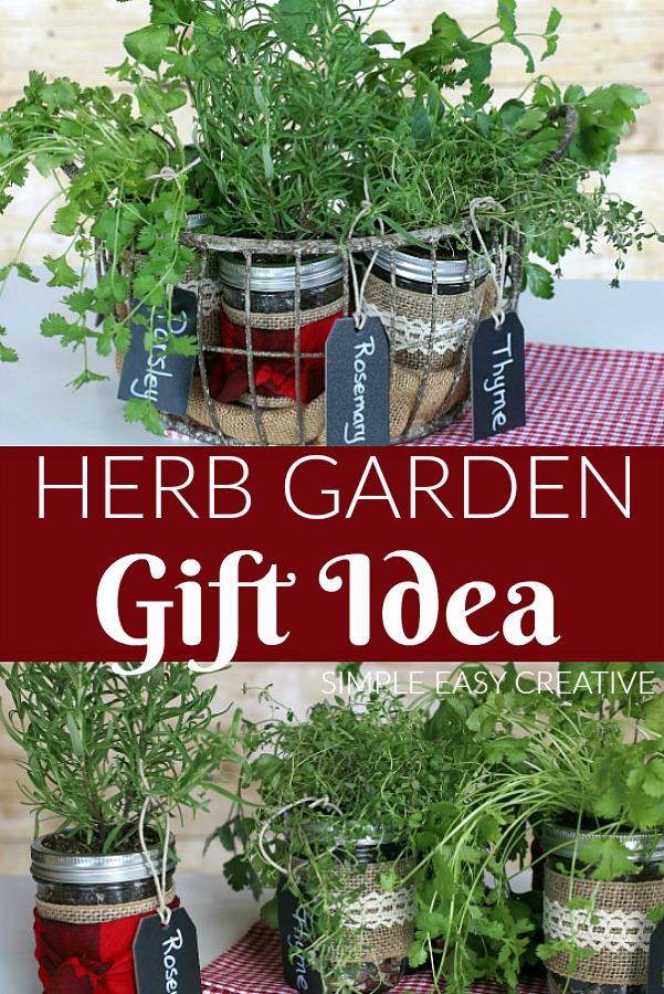 Mason Jar Herb Garden Gift Idea