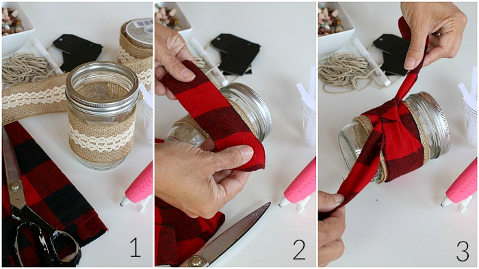 Decorating Mason Jar for Herbs