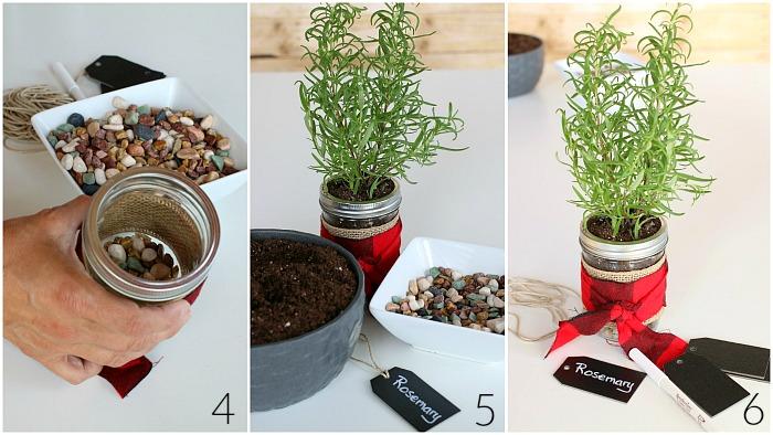 Planting Mason Jar Herbs