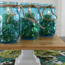 Mason Jar Table Decorations.FEATURE