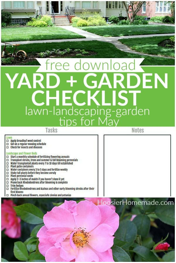 Yard and Garden Checklist