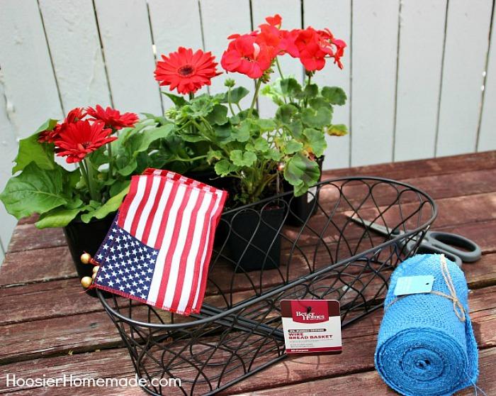 Supplies for Patriotic Centerpiece