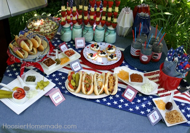 Memorial Day Cook-Out Printables | FREE on HoosierHomemade.com