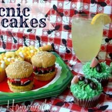 Picnic Cupcakes  :: on HoosierHomemade.com