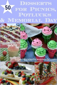 50 Desserts for Picnics, Potlucks and Memorial Day :: Recipes from HoosierHomemade.com