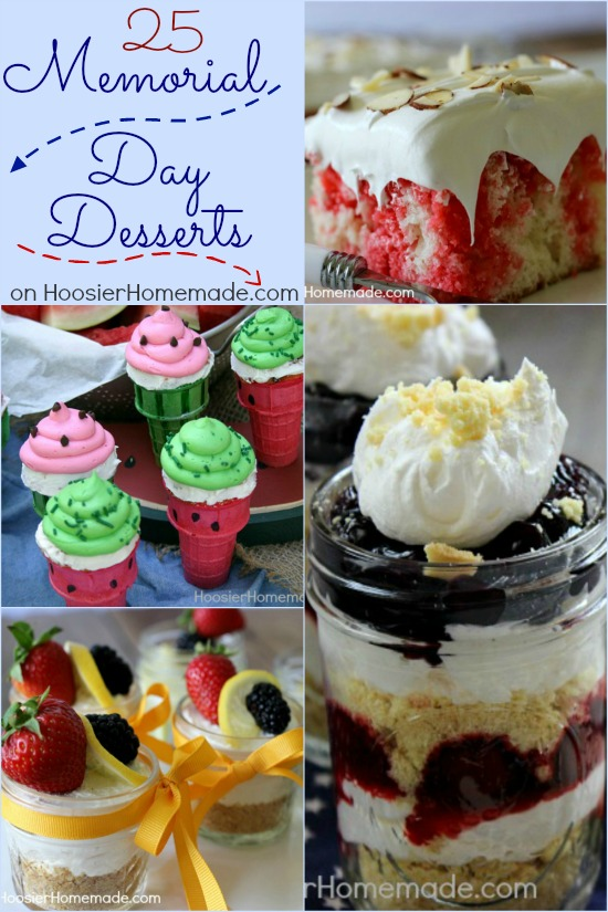 Memorial Day Desserts | on HoosierHomemade.com