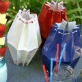 Memorial Day Party Paper Lanterns:: HoosierHomemade.com