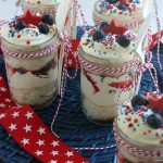 This Easy Strawberry Blueberry Trifle Recipe is great for Memorial Day or 4th of July! Leave off the chocolate stars and you have a fun dessert to pack in a picnic or take to a potluck!