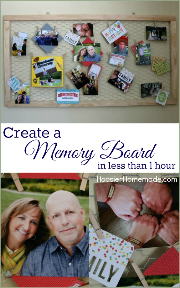 Make a special place for all those memorable times with this Memory Board! It goes together in less than 1 hour! Pin to your DIY Board!