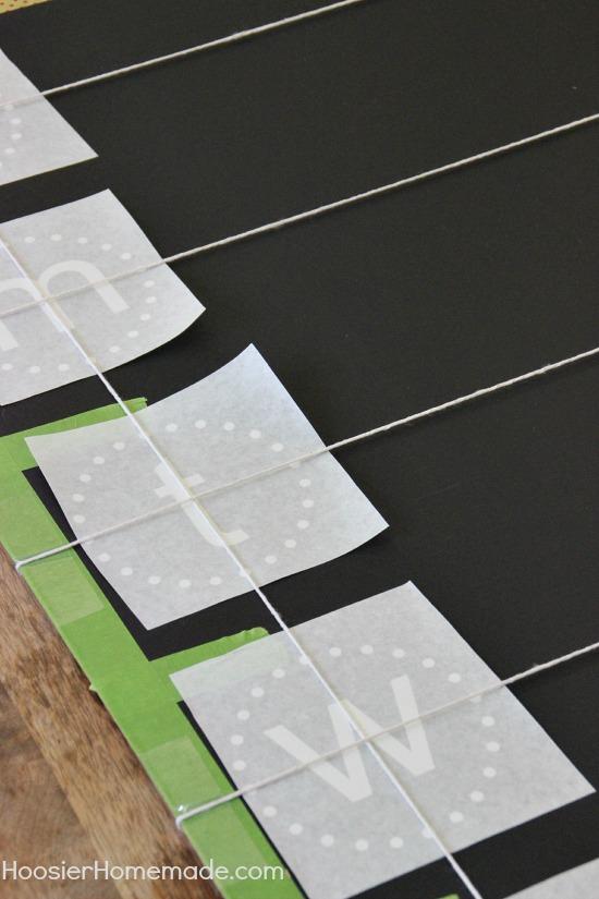 DIY Menu Board: Instructions on HoosierHomemade.com