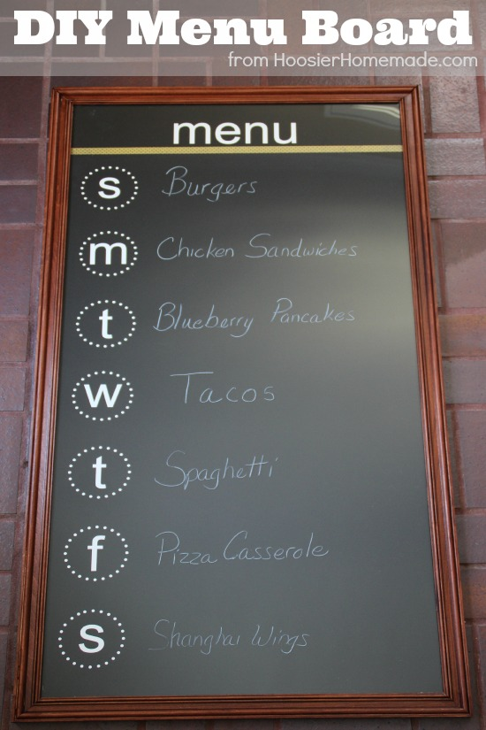 DIY Menu Board: Instructions on HoosierHomemade.com