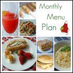 May Menu Plan – 2011