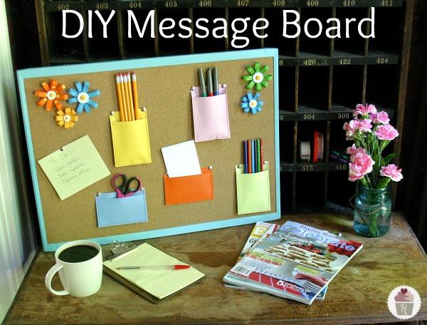 DIY Message Board - Hoosier Homemade