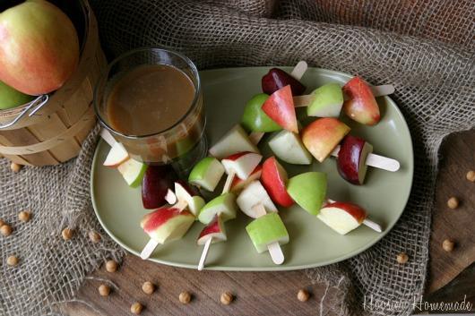 Mini Caramel Apples: Food on a Stick